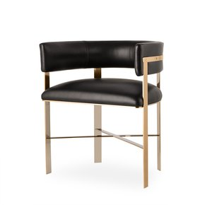 Art-Dining-Chair-Black-Leather-Mirrored-Brass-_Sonder-Living_Treniq_0