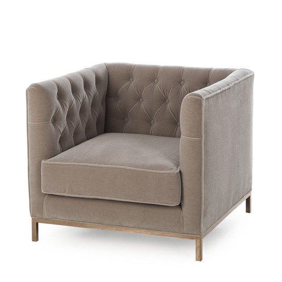 Vinci tufted occasional chair mohair  sonder living treniq 1 1526883073440