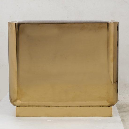 Vinci occasional chair mohair mirrored brass  sonder living treniq 1 1526883119310