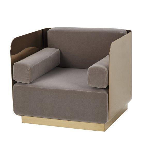 Vinci occasional chair mohair mirrored brass  sonder living treniq 1 1526883119299