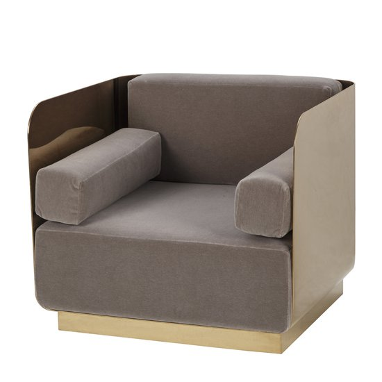 Vinci occasional chair mohair mirrored brass  sonder living treniq 1 1526883119307