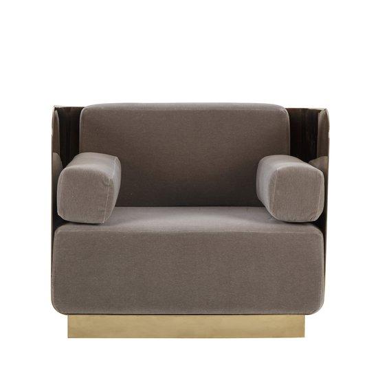 Vinci occasional chair mohair mirrored brass  sonder living treniq 1 1526883125109