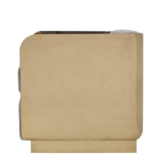 Vinci occasional chair mohair mirrored brass  sonder living treniq 1 1526883125616