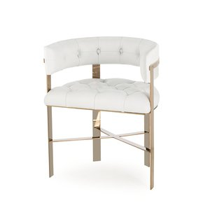 Art-Dining-Chair-Tufted-White-Leather-Mirrored-Brass-_Sonder-Living_Treniq_0