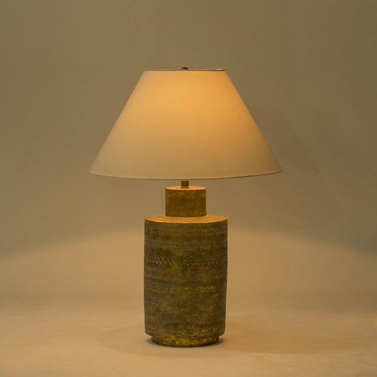 Ceramic fez lamp gold sonder living treniq 1 1526906929113