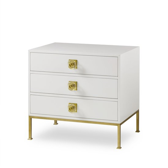 Formal chest 3 drawer white lacquer sonder living treniq 1 1526907425272