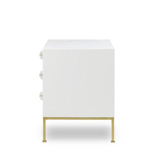 Formal chest 3 drawer white lacquer sonder living treniq 1 1526907438055