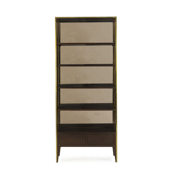 Silhouette bookcase smoked eucalyptus sonder living treniq 1 1526907452482