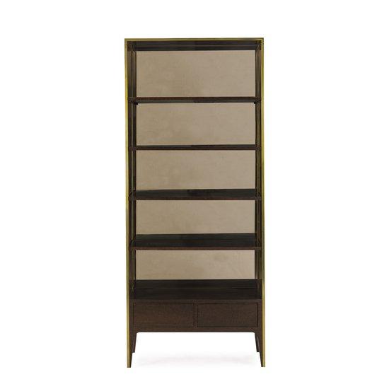Silhouette bookcase smoked eucalyptus sonder living treniq 1 1526907452490