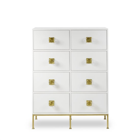 Formal dresser 8 drawer white lacquer sonder living treniq 1 1526907499160