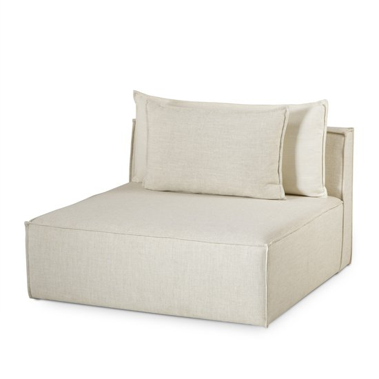 Charlton modular sofa armless chair madison dove fabric (uk) sonder living treniq 1 1526907739055