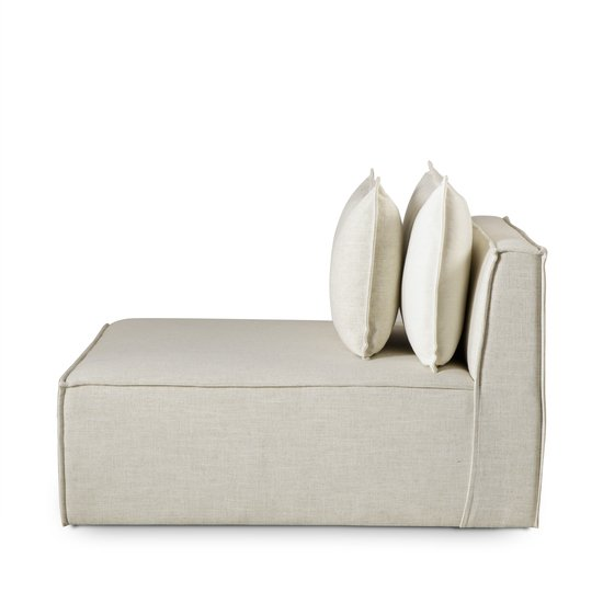 Charlton modular sofa armless chair madison dove fabric (uk) sonder living treniq 1 1526907739078