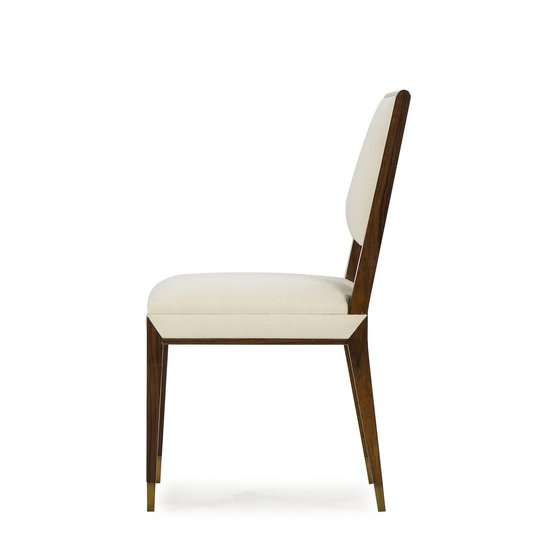Reform side chair rosewood cream fabric sonder living treniq 1 1526907963786