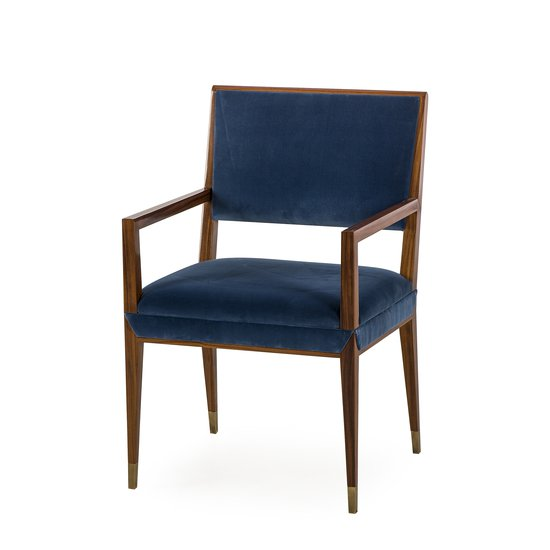 Reform arm chair rosewood vana blue velvet sonder living treniq 1 1526908077473