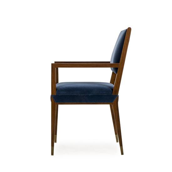 Reform arm chair rosewood vana blue velvet sonder living treniq 1 1526908077522