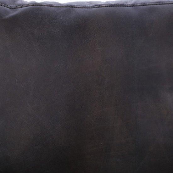 Vanessa 2 seater sofa destroyed black leather  sonder living treniq 1 1526972240241