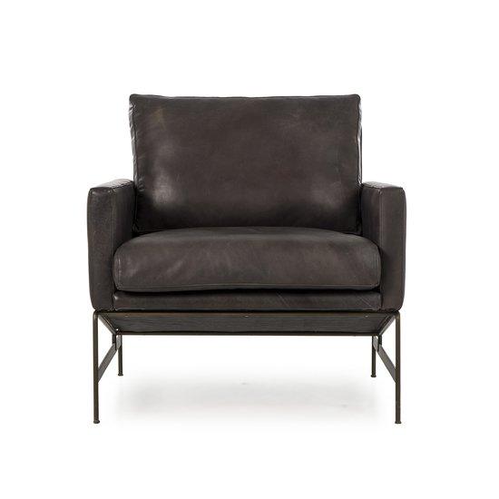 Vanessa chair destroyed black leather  sonder living treniq 1 1526972500059