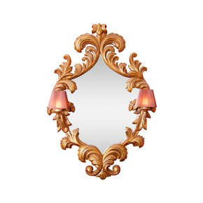 French Mirror Frame with Wall Lights - Hayat 1870 - Treniq