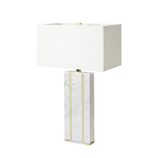 Marble table lamp rectangular by nellcote sonder living treniq 1 1526978663455