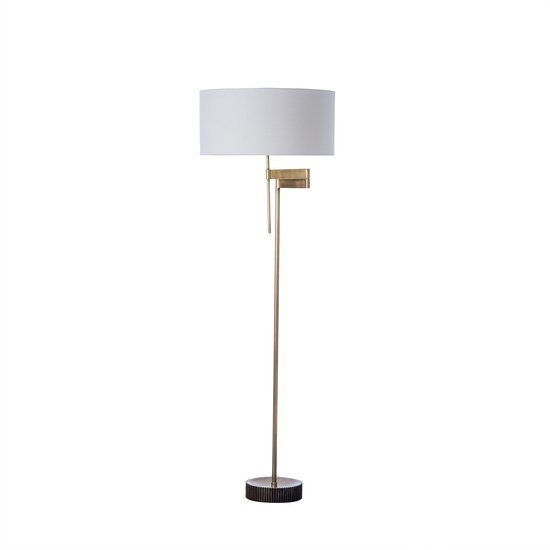 Gear floor swing lamp burned brass by nellcote sonder living treniq 1 1526978709827