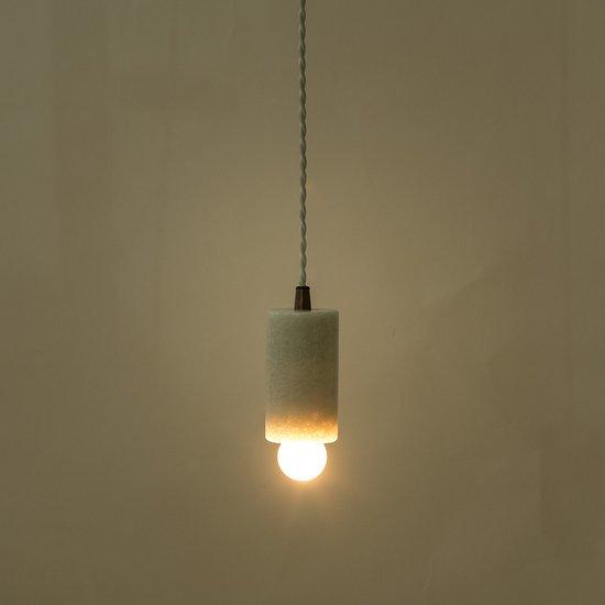 Marble tube pendant white by nellcote sonder living treniq 1 1526979961598