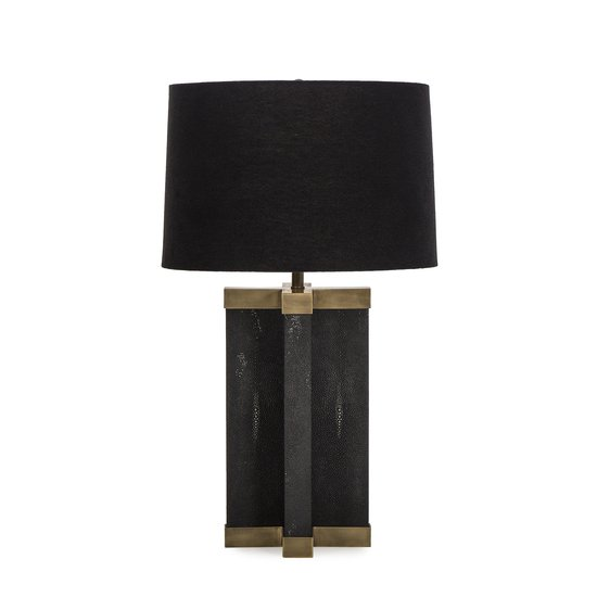 Shagreen lamp black black shade by nellcote sonder living treniq 1 1526980096014