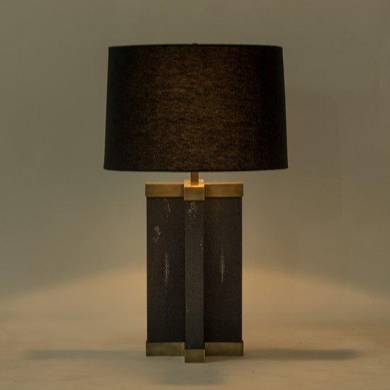 Shagreen lamp black black shade by nellcote sonder living treniq 1 1526980096019