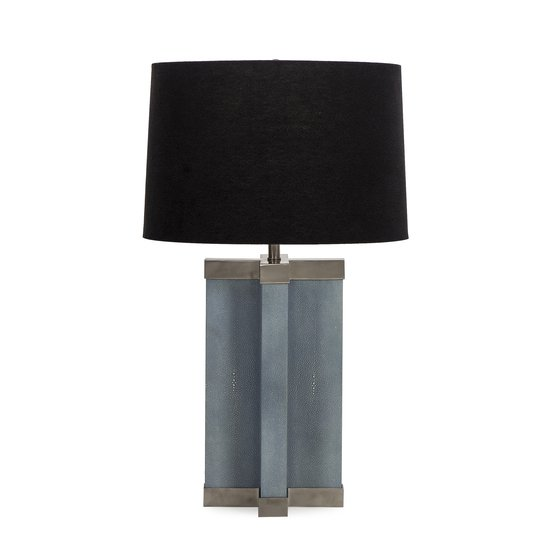 Shagreen lamp baby blue white shade by nellcote sonder living treniq 1 1526980134472