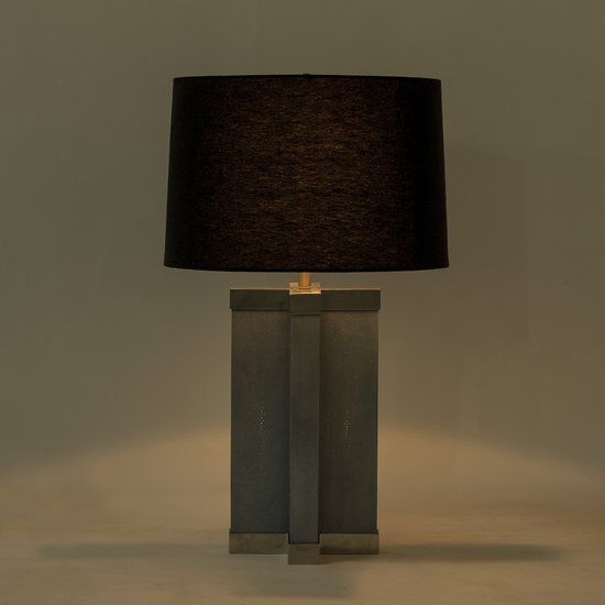 Shagreen lamp baby blue white shade by nellcote sonder living treniq 1 1526980134499