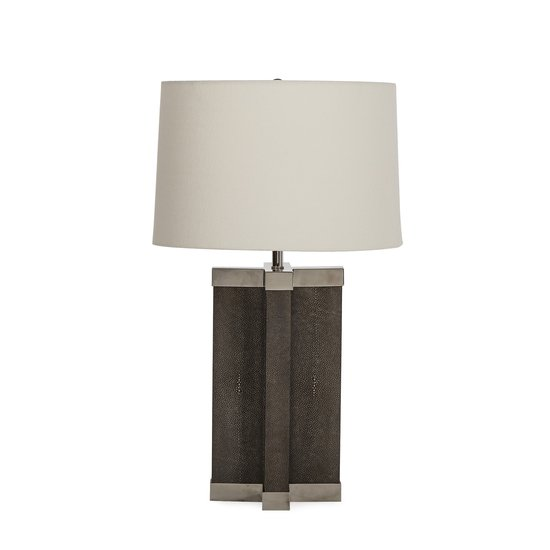 Shagreen lamp grey white shade by nellcote sonder living treniq 1 1526980244119