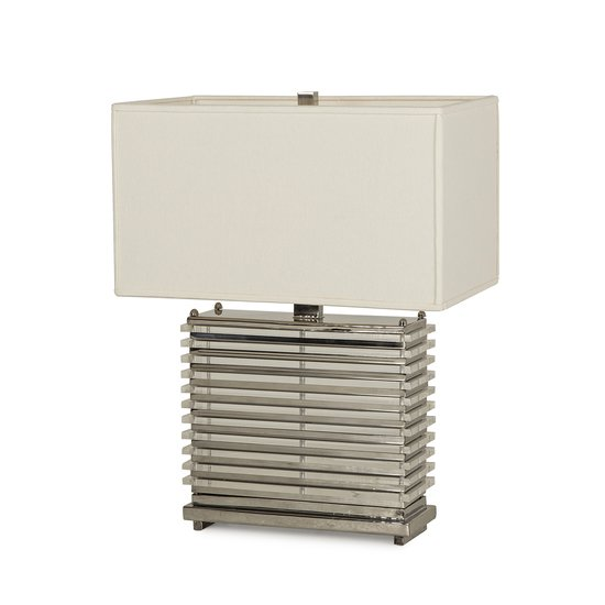 Stack table lamp nickel white shade by nellcote sonder living treniq 1 1526980365186