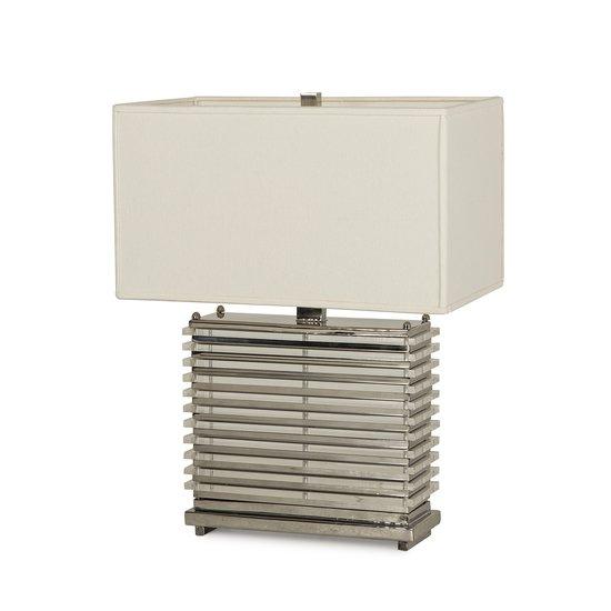 Stack table lamp nickel white shade by nellcote sonder living treniq 1 1526980365180