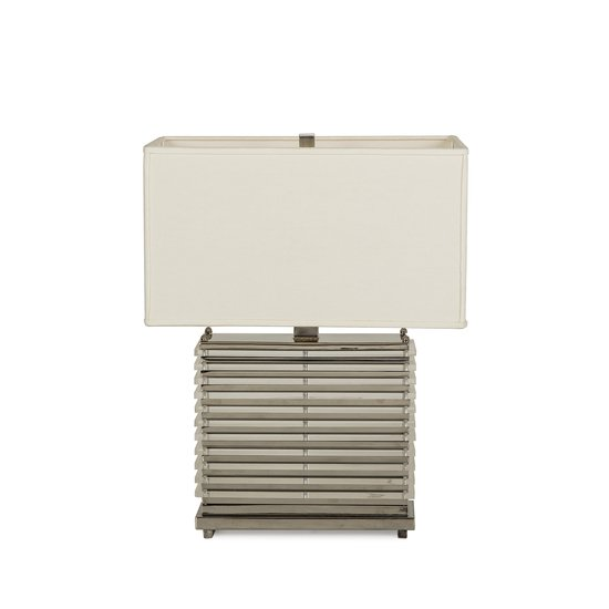 Stack table lamp nickel white shade by nellcote sonder living treniq 1 1526980365208