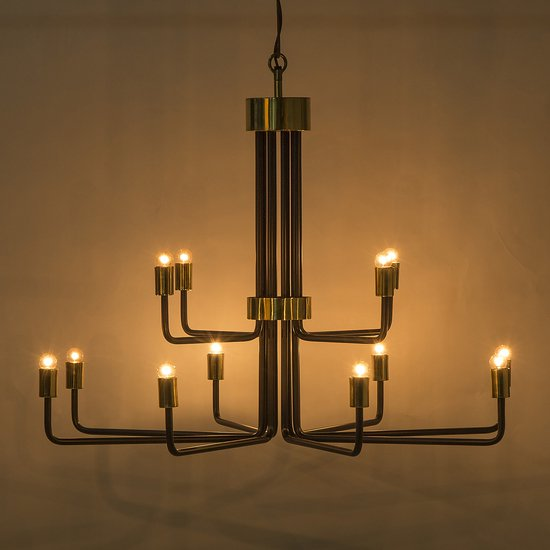 Le marais chandelier 12 light black by nellcote sonder living treniq 1 1526980427166