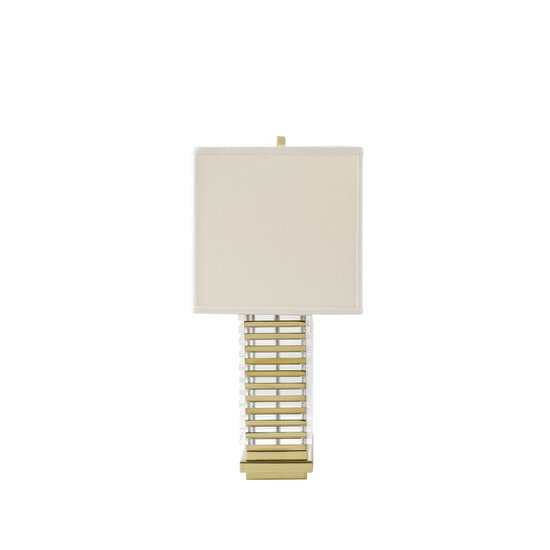 Stack table lamp brass white shade by nellcote sonder living treniq 1 1526981132786