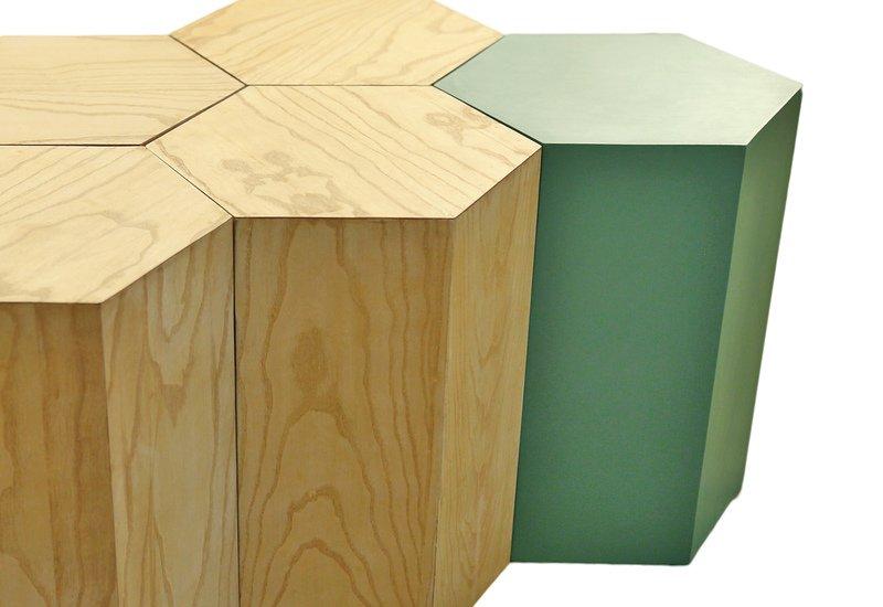 Hexagon coffee table kohr treniq 4