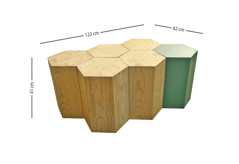 Hexagon coffee table kohr treniq 5
