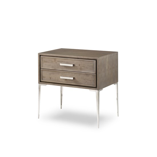 Chloe nightstand 2 drawer tall  sonder living treniq 1 1526985727987