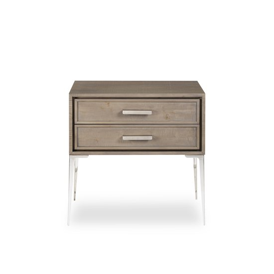 Chloe nightstand 2 drawer tall  sonder living treniq 1 1526985728034