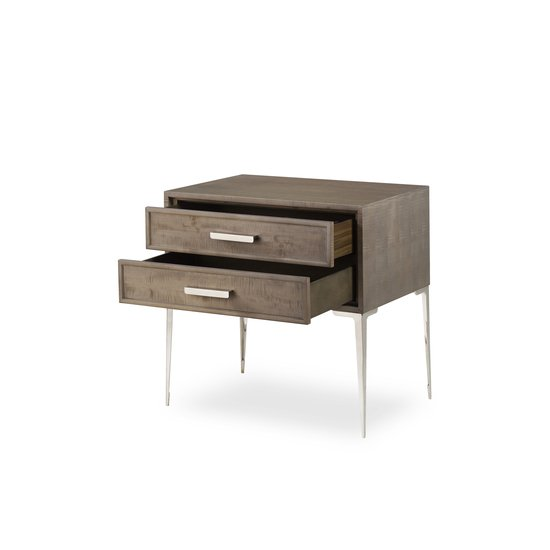 Chloe nightstand 2 drawer tall  sonder living treniq 1 1526985730451