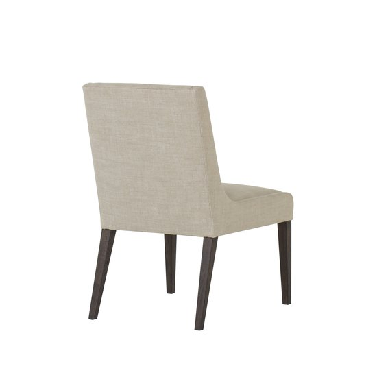 Stacey dining chair textured linen fabric wright finish  sonder living treniq 1 1526988517698