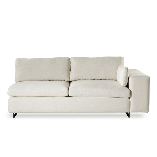 Ian loveseat right arm facing leg a metal sled  sonder living treniq 1 1526989051537