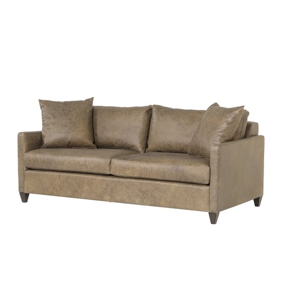 Ian sofa wooden tapered leg fonzo bistre leather  sonder living treniq 1 1526989244417