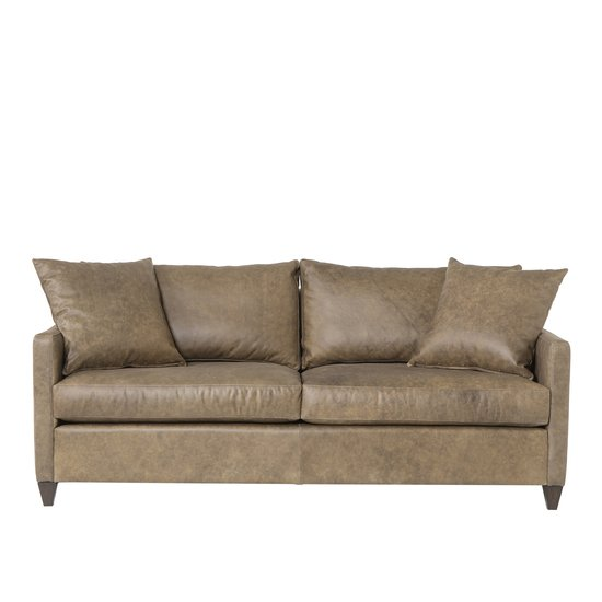Ian sofa wooden tapered leg fonzo bistre leather  sonder living treniq 1 1526989244492