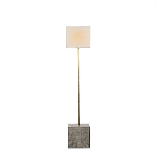 Untitled floor lamp square white shade by nellcote sonder living treniq 1 1527673208570