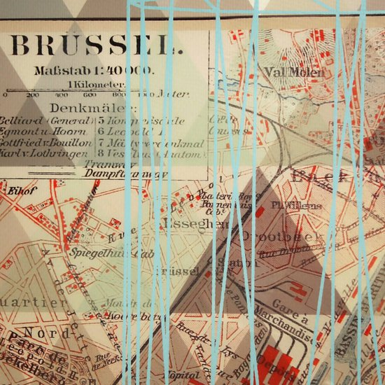 Vintage map brussels  sonder living treniq 1 1527685150105