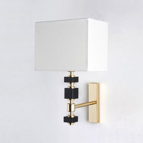 Brick Black Wall Lamp - Dettagli Lights - Treniq