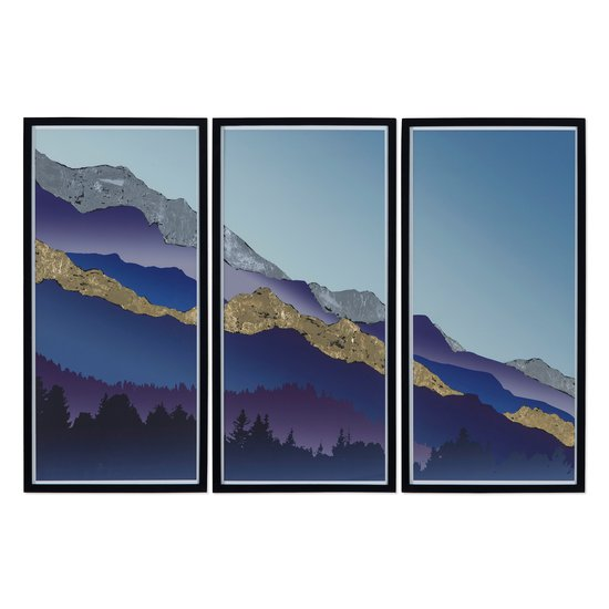 Gold   silver leaf mountain triptych  sonder living treniq 1 1527741303771