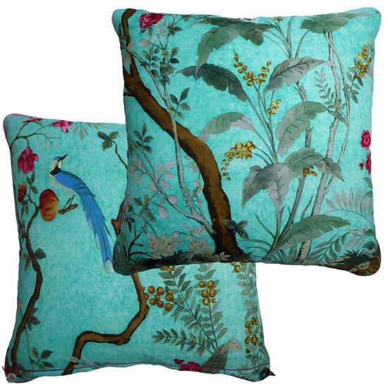 Kingfisher blue vintage cushions treniq 1 1528322685900