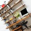 Nita reclaimed scaffolding board   steel pipe curved shelving   desk unit urban grain treniq 1 1528375927766